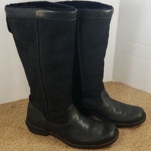 UGG Tall Suede and Leather boots